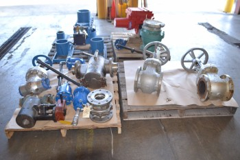 4 PALLETS OF ASSORTED VALVES
