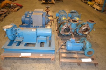4 PALLETS OF ASSORTED PACO CENTRIFUGAL PUMPS