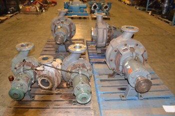 4 PALLETS OF ASSORTED DURO & DEAN CENTRIFUGAL PUMPS