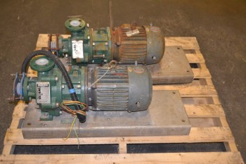 LOT OF 2 ANSIMAG K1516-CA MAGNETIC DRIVE PUMPS
