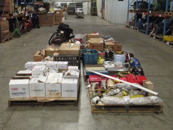 8 PALLETS OF ASSORTED TOOLS AND SUPPLIES