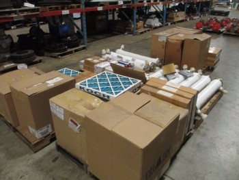 5 PALLETS OS ASSORTED FILTERS, KOCH, CAMFIL, PALL, TRI-PLEAT