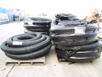 4 PALLETS OF UNDER GROUND CORRUGATED DRAINAGE PIPE