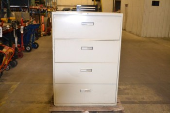 LOT OF 2 4-DRAWER FILING CABINETS