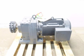 SEW EURODRIVE R107DV180L4-KS ELECTRIC MOTOR