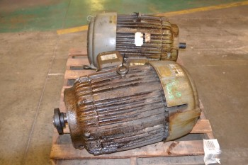 LOT OF 2 AC ELECTRIC MOTORS 75 HP, 1780 RPM