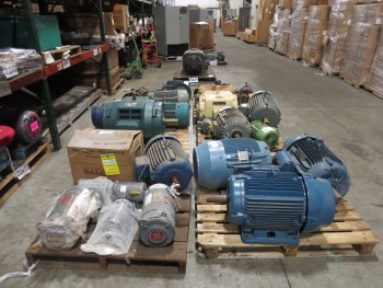 6 PALLETS OF ASSORTED AC ELECTRIC MOTORS