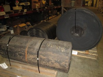 LOT OF 4 CONVEYOR BELTS ASSORTED LENGTH AND WIDTHS