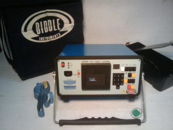 Biddle Instruments 437 Cable Logger With Faceplate Cover and Fabric Case .