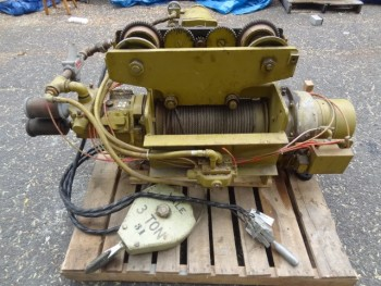 Yale 3 Ton Spark Resistant Cable King Air Powered Wire Rope Hoist
