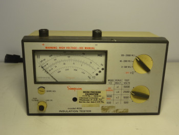 Simpson Electric 405-2 Insulation Tester