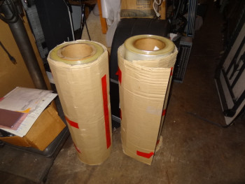 Lot fo (2) Reels of Plastic Films - Thickness 012, Width 0820, Lenght 18000