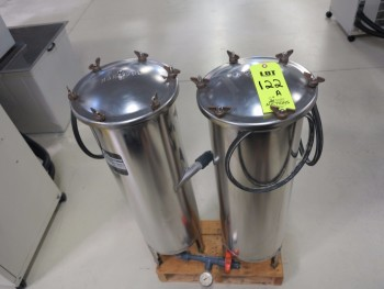 LOT OF (2) EBBCO PARTICAL FILTRATION TANKS