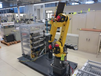 FANUC ROBOT M-20IA, S/N F139715, W/WIRE SCREEN SURROUNDS