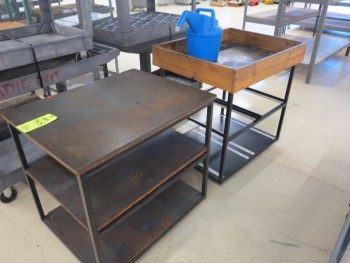 LOT OF (2) SMALL SHELF UNITS