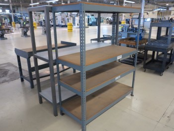 LOT OF (2) SHELF UNITS