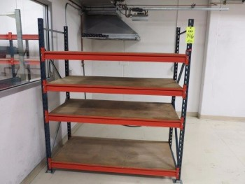 SECTION OF H/D SHELF RACKING, 6\'X3\'X6\'