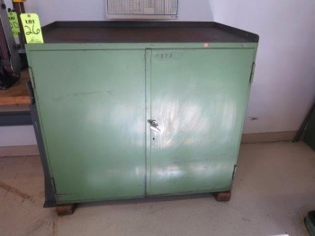 METAL STORAGE CABINET W/ CONTENTS OF TOOLING FOR DECKEL MACHINES
