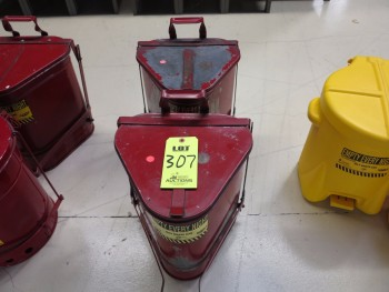 2-6 GALLON, OILY WASTE CANS (METAL, RED)