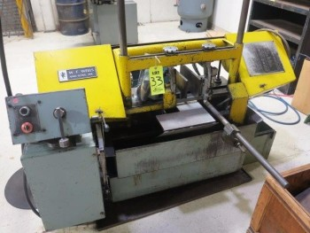 W.F. WELLS HORIZONTAL BAND SAW, S/N: 803462