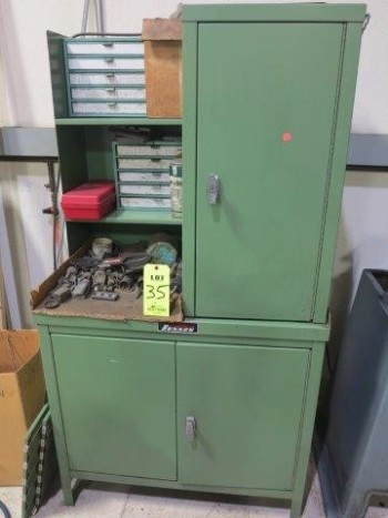 SUNNEN HONE CABINET W/ CONTENTS, HONE TOOLING & 1 CRATE