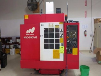 1998 MATSUURA MC-510 VG CNC VERTICAL MACHINING CENTER