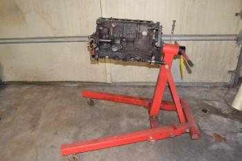 ENGINE STAND W/ ENGINE