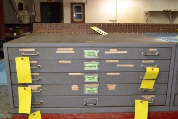 STEEL TOOL DRAWER - WITHOUT CONTENTS - 5 DRAWERS - 40 X 28 X 17.5