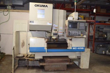 OKUMA MC-40VA CNC VERTICAL MILLING MACHINE