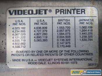 VIDEOJET EXCEL 100 INKJET PRINTER MARKING MACHINE