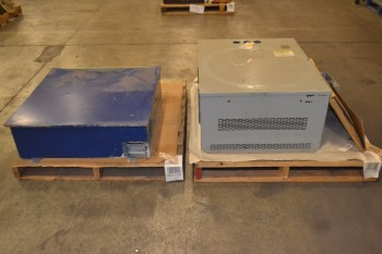 2 PALLETS OF ASSORTED ELECTRICAL ENCLOSURES AND PARTS