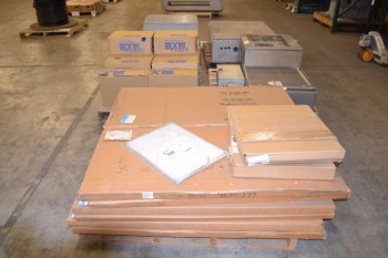5 PALLETS OF ASSORTED ELECTRICAL ENCLOSURES