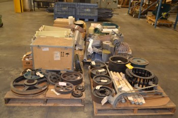 6 PALLETS OF ASSORTED CONVEYOR REPLACEMENT PARTS