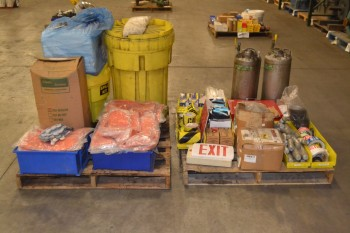 2 PALLETS OF ASSORTED SAFETY EQUIPMENT