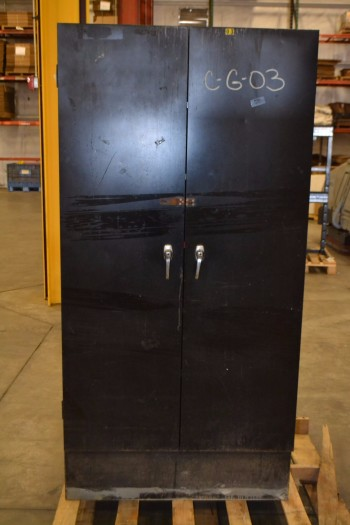METAL UTILITY CABINET, 6 SHELVES