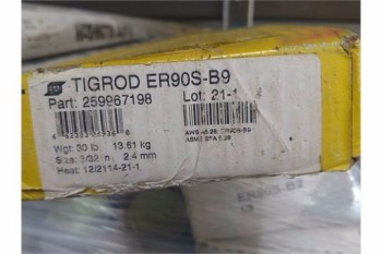 ESAB ARCALOY TIG ROD ER90S-B9, 3/32 DIA., 300 #S AVAILABLE