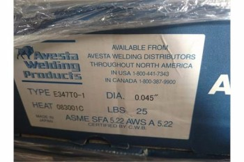 AVESTA E347-TO1, .045 DIA, x 25 # SPOOLS, 1000 #S AVAILABLE