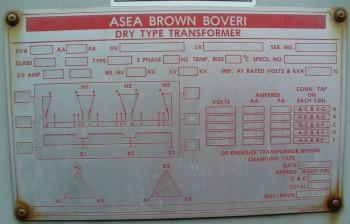 ABB Cast Coil Dry Type Transformer   3000 KVA - OA  4000 KVA - FA