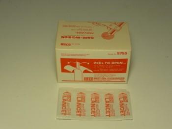 (10,000) Becton-Dickinson 5755 Sterile Microlancet Disposable Bleed Lancet