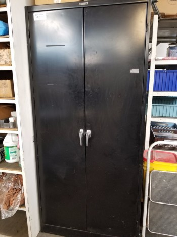 Tall Black Cabinet with Large Misc Reamers. Contents shown in pictures included.