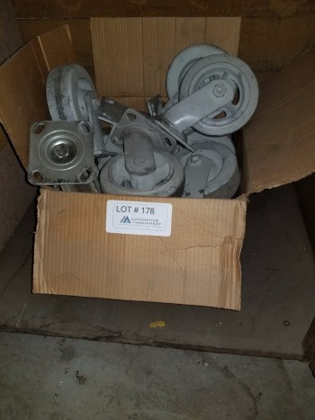 Box of Rubber wheel Casters