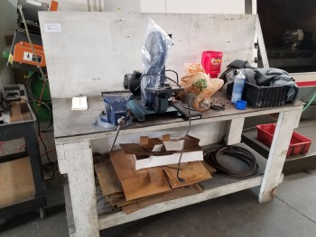 Workbench with Vise, No Contents