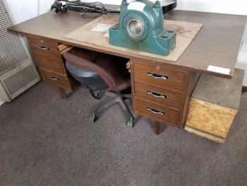 Office Desk with Chair, No Contents