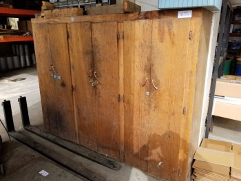 Large Wood cabinet No Contents