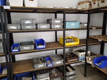 Metal Shelving, No Contents