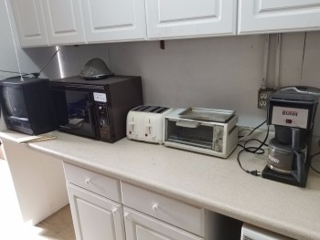 TV, Microwave, Toaters, Bunn Coffee maker