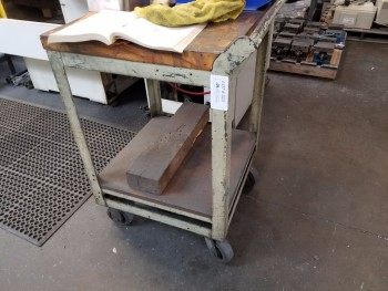 Metal Rolling Cart, No Contents