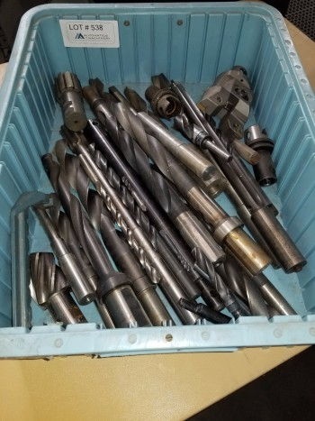 Large Bin of Drills