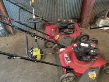 2 Mowers 1 Line trimmer