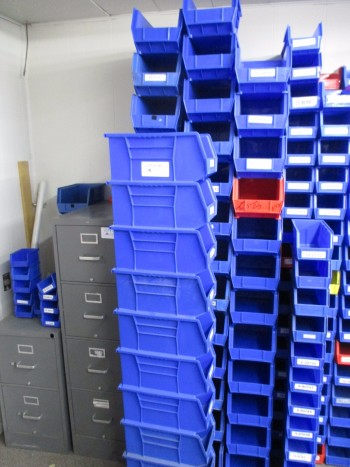 Blue Plastic Containers